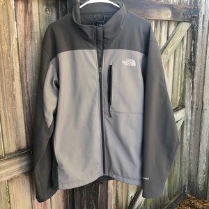 The Northface Apex gray jacket. SzXL